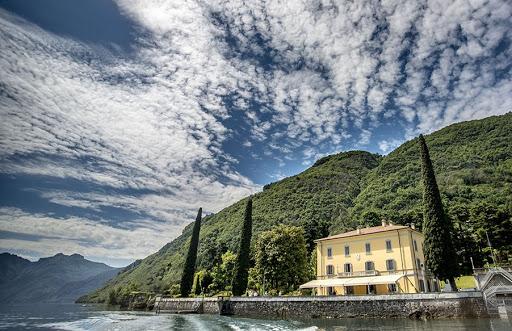 View of a private Villa on Como Lake